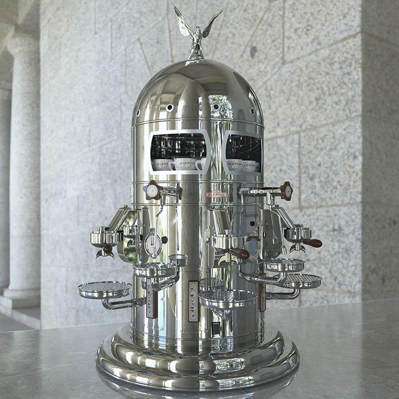 Первая эспрессо кофемашина Луиджи Беззера