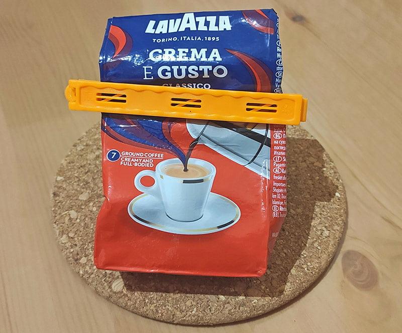 Прищепка для кофе, чтобы сохранить вкус и аромат